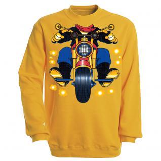 Sweatshirt mit Print - Motorrad - S12780 - versch. farben zur Wahl - Gr. gelb / XL
