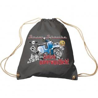 Sporttasche Print Simson Schwalbe 65080 anthrazitgrau - Trend-Bag Turnbeutel Rucksack