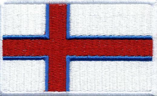Aufnäher - Faeroer-Inseln Fahne - 21591 - Gr. ca. 8 x 5 cm