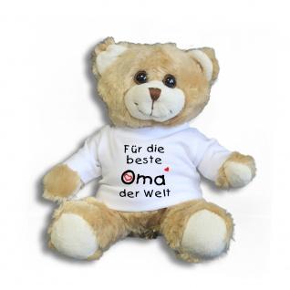 Teddybär mit Shirt - Für die beste Oma der Welt - 27032 hellbraun