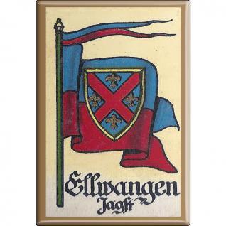 Küchenmagnet - Wappen Ellwangen Jagst - Gr. ca. 8 x 5, 5 cm - 37519 - Magnet Kühlschrankmagnet