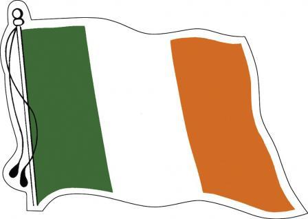 Aufkleber Autoaufkleber Länderfahne wehend - Ireland - Irland - 301322 - Gr. ca. 95mm x 70mm
