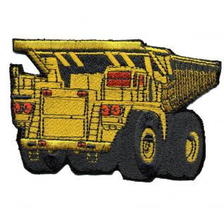 Aufnäher - Baustellenfahrzeug - 02952 - Gr. ca. 10 x 8 cm - Patches Stick Applikation