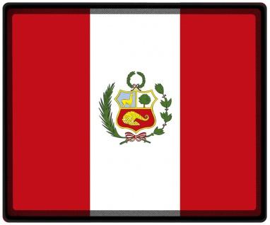 Mousepad Mauspad mit Motiv - Peru Fahne - 82130 - Gr. ca. 24 x 20 cm