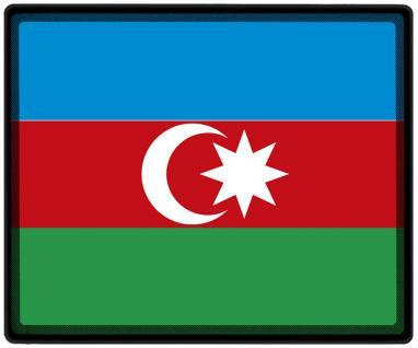 Mousepad Mauspad mit Motiv - Aserbaidschan Fahne Fußball Fußballschuhe - 82016 - Gr. ca. 24 x 20 cm
