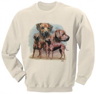 Sweatshirt mit Print - Rhodesien Ridgeback - 08682 weiß - ©Kollektion Bötzel - XL