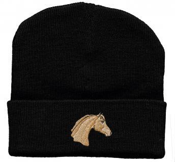 Hip-Hop Mütze Pferdekopf Haflinger 56533 schwarz