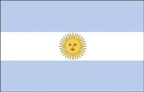 Länderfahne Stockländerfahne - Argentinien - Gr. ca. 30x40cm - 77014 - Schwenkflagge