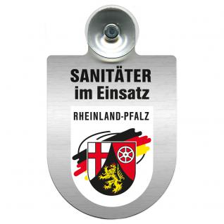 Einsatzschild Windschutzscheibe incl. Saugnapf - Sanitäter im Einsatz - 309396- Regionen nach Wahl Region Rheinland-Pfalz