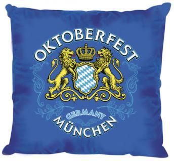 "(11323) Deko-Kissen "" Oktoberfest "" in BLAU oder WEISS blau"