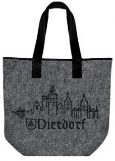 Filztasche mit Einstickung - STADT DIERDORF - 26017 - Tasche Shopper Bag
