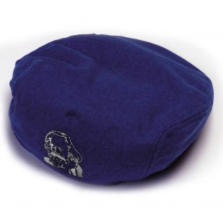 Gatsby Cap mit Einstickung - Karl Marx - 53457 - dunkelblau