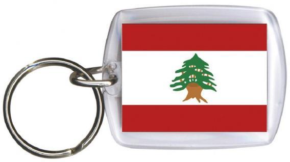 Schlüsselanhänger - LIBANON - Gr. ca. 4x5cm - 81092 - Keyholder WM Länder