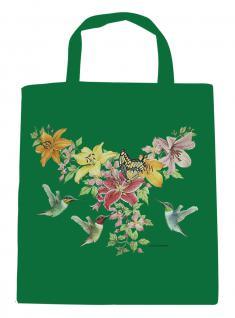 (U06996)Umweltfreundliche Baumwoll - Tasche , ca. 28 x 43 cm mit Aufdruck in 7 Farben grün
