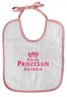 Baby-Lätzchen mit Druckmotiv - kleine Prinzessin Bavaria - 12411 - weiß-rosa