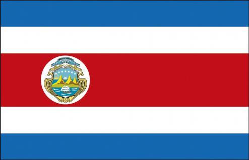Auto-Fahne - Costa Rica - Gr. ca. 40x30cm - 78038 - Länderflagge mit Klemmstab, Fahne, Autoländerfahne