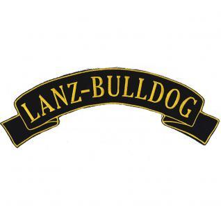 Rückenaufnäher - Lanz-Bulldog - 07339/1 - Gr. ca. 28 x 7 cm - Patches Stick Applikation