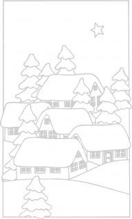 Wandtattoo Dekorfolie Weihnachtsbild WD0808 - silber / 120cm