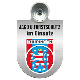 Einsatzschild für Windschutzscheibe incl. Saugnapf - Jagd + Forstschutz im Einsatz - 309729-13 Region Thüringen - Vorschau
