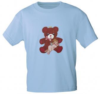 T-Shirt mit Print - Teddy Bär - 06948 - versch. Farben zur Wahl - hellblau / S