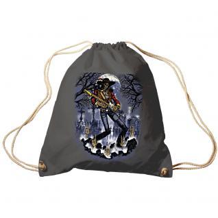 Trend-Bag Turnbeutel Sporttasche Rucksack mit Print- Ghost Guitar - TB65302 anthrazitgrau