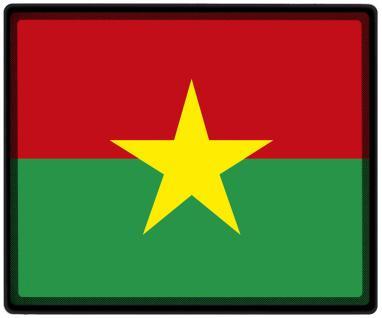 Mousepad Mauspad mit Motiv - Burkina Faso Fahne Fußball Fußballschuhe - 82033- Gr. ca. 24 x 20 cm