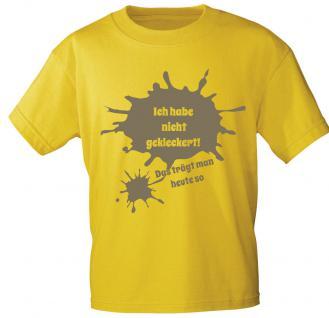 Kinder T-Shirt mit Aufdruck - Ich habe nicht gekleckert ... - 08155 - gelb - Gr. 98/104