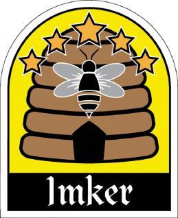 PVC Aufkleber - Imker - 307161-1 - Gr. ca. 6, 5 x 8 cm - konturengeschnitten - Vorschau