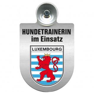 Einsatzschild mit Saugnapf Hundetrainerin im Einsatz 309379/1 Region Luxembourg