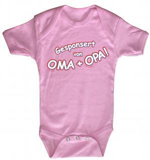 Babystrampler mit Print ? Gesponsort von Oma + Oma ? 08385 pink - 0-24 Monate