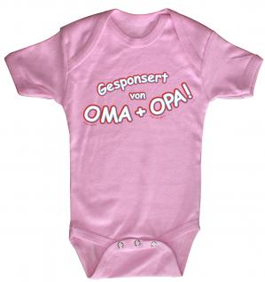 Babystrampler mit Print ? Gesponsort von Oma + Oma ? 08385 pink - 0-6 Monate