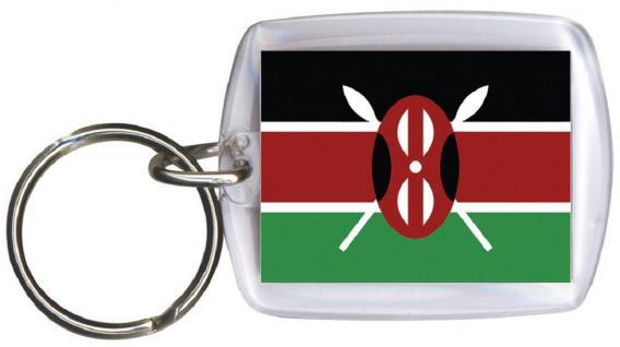 Schlüsselanhänger - KENIA - Gr. ca. 4x5cm - 81081 - WM Länder