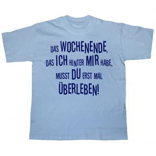 T-Shirt mit Print - Das Wochenende .... - 10798 hellblau - Gr. S