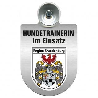 Einsatzschild mit Saugnapf Hundetrainerin im Einsatz 309379/1 Region Brandenburg