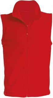 (11537) Karneval Fleece-Weste mit Brust- und Rückenstick,? Clown? NEU Gr. S- XXL in 4 Farben rot / S