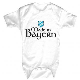Babystrampler mit Print - Made in Bayern - 08326 weiß - Gr. 0-24 Monate