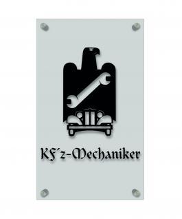 Zunftschild Handwerkerschild - Kfz-Mechaniker - beschriftet auf edler Acryl-Kunststoff-Platte ? 309440 schwarz