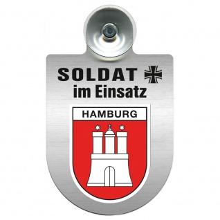 Einsatzschild Windschutzscheibe incl. Saugnapf - Soldat im Einsatz - 309392 - Region Bremen