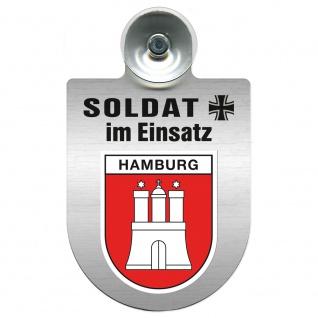 Einsatzschild Windschutzscheibe incl. Saugnapf - Soldat im Einsatz - 309392 - Region Hamburg