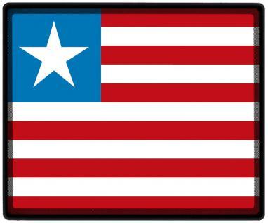 Mousepad Mauspad mit Motiv - Liberia Fahne Fußball Fußballschuhe - 82093 - Gr. ca. 24 x 20 cm
