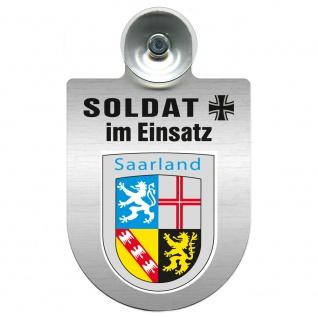 Einsatzschild Windschutzscheibe incl. Saugnapf - Soldat im Einsatz - 309392 - Region Saarland