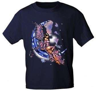 T-Shirt mit Print Fee Elfe auf Mond - 10899 dunkelblau Gr. S-3XL