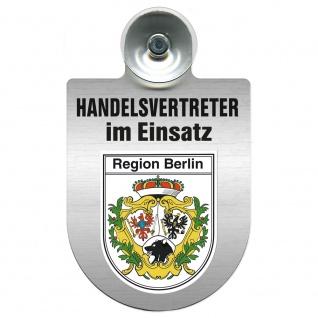 Einsatzschild Windschutzscheibe incl. Saugnapf - Handelsvertreter im Einsatz - 309367 Region Berlin