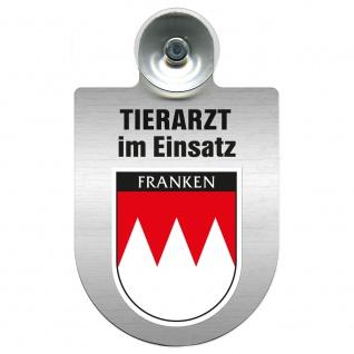 Einsatzschild Windschutzscheibe incl. Saugnapf - Tierarzt im Einsatz - 309390 Region Franken