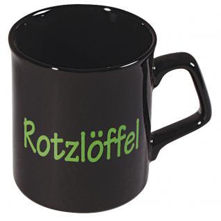 Motivtasse mit Print Rotzlöffel 57178 schwarz