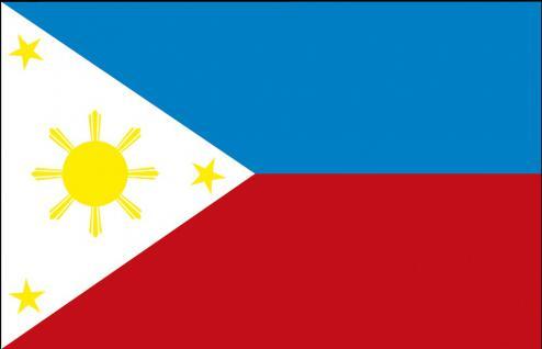 Schwenkfahne mit Holzstock - Philippinen - Gr. ca. 40x30cm - 77131 - Dekoflagge, Länderfahne, Stockländerfahne