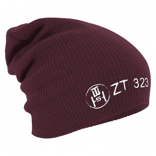 Longbeanie Slouch-Beanie Wintermütze Emblem ZT 323 Abzeichen 55273