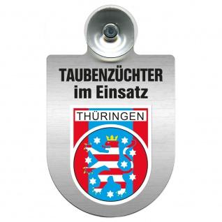 Einsatzschild Windschutzscheibe incl. Saugnapf - Taubenzüchter im Einsatz - 309385 Region Thüringen
