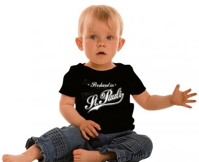 Kinder T-Shirt mit Print - Produced in St. Pauli - 08331 - schwarz - Gr. 152/164