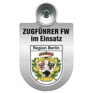 Einsatzschild Windschutzscheibe incl. Saugnapf - Zugführer Feuerwehr im Einsatz - 309749 - Region Berlin